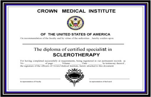 Sclerotherapy Certification
